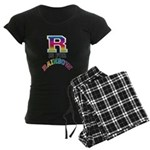 R is for Rainbow Women's Dark Pajamas
