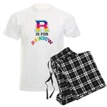 R is for Rainbow Men's Light Pajamas