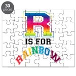 R is for Rainbow Puzzle