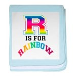 R is for Rainbow baby blanket