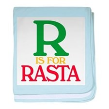 R is for Rasta baby blanket