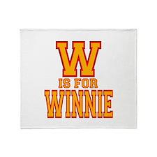 W is for Winnie Throw Blanket