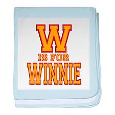 W is for Winnie baby blanket