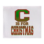 C is for Christmas Throw Blanket