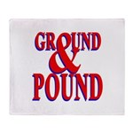 Ground & Pound Throw Blanket