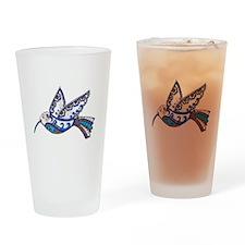 Hummingbird-Slate and Blue Drinking Glass