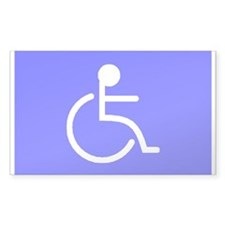 """Disabled"" Rectangle Decal"
