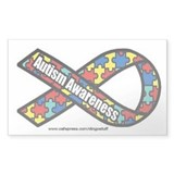 """Autism Ribbon"" Rectangle Sticker"