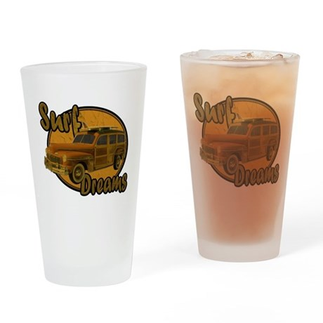 Surf Dreams Woodie Wagon Drinking Glass