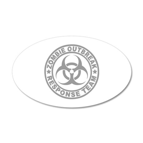 Zombie Outbreak Response Team 38.5 x 24.5 Oval Wal
