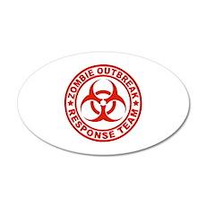 Zombie Outbreak Response Team 22x14 Oval Wall Peel
