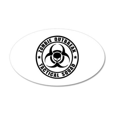 Zombie Outbreak Technical Squad 22x14 Oval Wall Pe