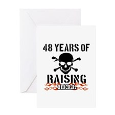 48 Years of Raising Hell Greeting Card