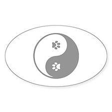YinYang Paws Decal