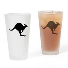 Hopping Kangaroo Drinking Glass