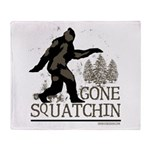 Gone Squatchin Throw Blanket