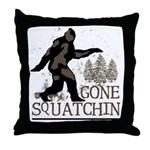 Gone Squatchin Throw Pillow