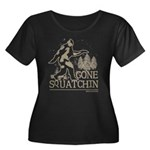 Gone Squatchin Women's Plus Size Scoop Neck Dark T