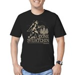 Gone Squatchin Men's Fitted T-Shirt (dark)