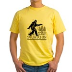 Gone Squatchin Yellow T-Shirt