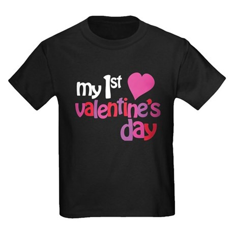 My 1st Valentine's Day Kids Dark T-Shirt