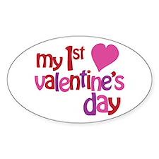 My 1st Valentine's Day Decal