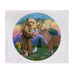 StFrancis-Pony Throw Blanket