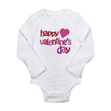 Happy Valentine's Day Long Sleeve Infant Bodysuit