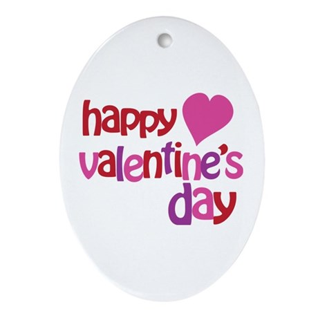 Happy Valentine's Day Ornament (Oval)