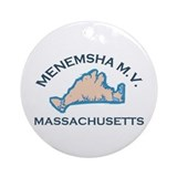Menemsha MA - Varsity Dollar Design. Ornament (Rou