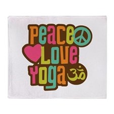 Peace Love Yoga Throw Blanket