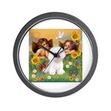 Angels & Bichon Frise Wall Clock