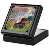 Cloud Angel / Dach(brn & t wh Keepsake Box