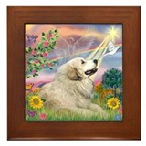 Cloud Angel / Great Pyrenees Framed Tile