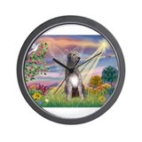 Cloud angel / Wolfhound(g) Wall Clock