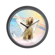 Angel / Italian Spinone Wall Clock