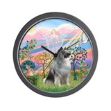 Cloud Angel / Keeshond Wall Clock