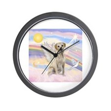 Angel Labrador Wall Clock