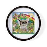 Rainbow & Shih Tzu Wall Clock