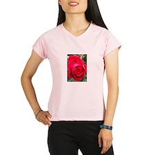 Rain Drop Red Rose Performance Dry T-Shirt