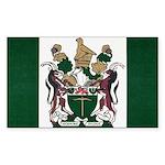Rhodesia Flag Sticker (Rectangle 10 pk)