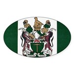 Rhodesia Flag Sticker (Oval 10 pk)