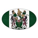 Rhodesia Flag Sticker (Oval)
