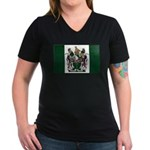 Rhodesia Flag Women's V-Neck Dark T-Shirt
