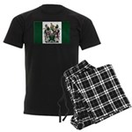 Rhodesia Flag Men's Dark Pajamas