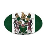 Rhodesia Flag 35x21 Oval Wall Decal