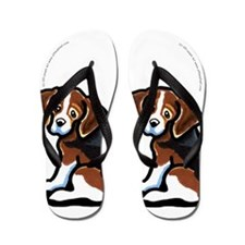 Cute Tri-color Beagle Flip Flops
