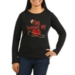 Tina Lassoed My Heart Women's Long Sleeve Dark T-S