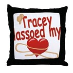 Tracey Lassoed My Heart Throw Pillow