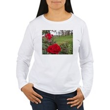 Red Roses In Park T-Shirt